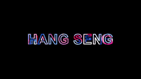 Letters are collected in World stock index HANG SENG, then scattered into Animation
