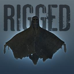 Rigged Shrouded Ghoul for Blender Render 3D