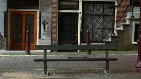 Famous bench from the movie The Fault in our stars located in Amsterdam City of  Footage