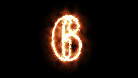 Burning Fire with Sparks Countdown 10 - 0 Animación