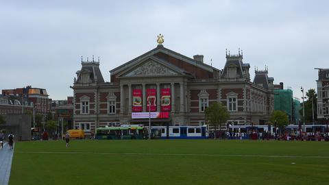 Concert Hall Amsterdam called Concert Gebouw City of Amsterdam Footage