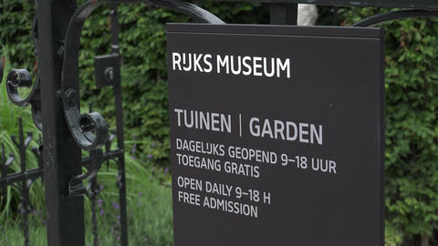 The Garden Of The National Museum Amsterdam City Of Amsterdam stock footage