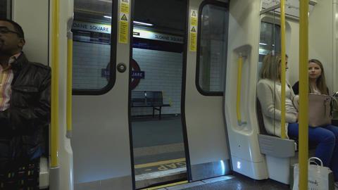 London Underground closing doors - LONDON, ENGLAND Live Action