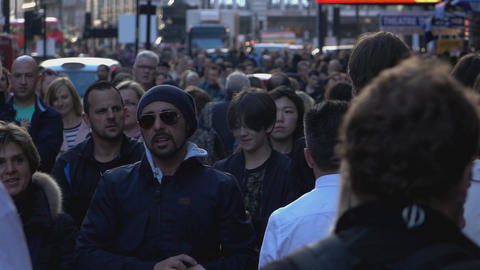 Crowds of people in London - LONDON, ENGLAND Live Action