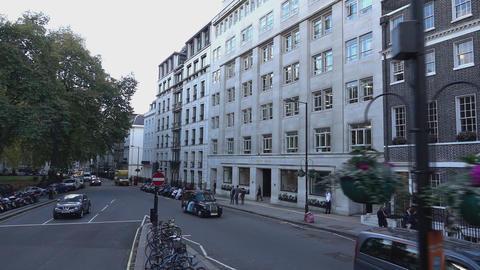 London street corner - LONDON, ENGLAND Live Action