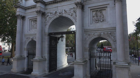 Marble Arch London - LONDON, ENGLAND stock footage