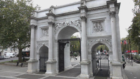 Marble Arch at Hyde Park - LONDON, ENGLAND Live Action