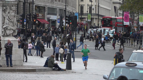 Busy area in London - LONDON, ENGLAND Footage