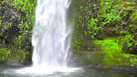 Closeup Waterfall View Footage