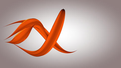 Abstract orange shapes evolving - elegant science and technology composition Animation