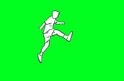 Man jumping over hurdle Animation