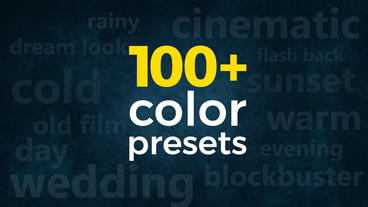3-in-1 Pack: 100+ Cinematic & Wedding Color Presets Premiere Proテンプレート