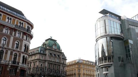 Haas House, Vienna austria 4k footage Footage