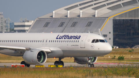 Airbus A320 taxiing before departure Footage