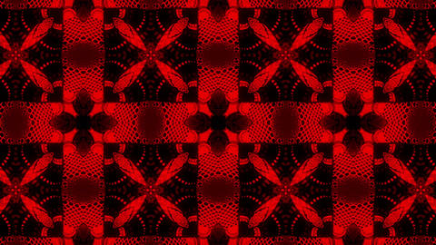 Black and red kaleidoscope Animation