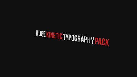 Dynamic Typography Pack After Effects Template