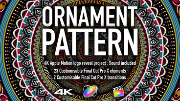 Ornament Pattern Pack Apple Motionテンプレート