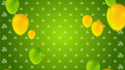 St. Patricks Day video animation with colorful balloons 動畫