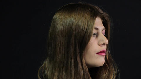 Violence to women. Domestic violence. black eye. 8 March Women' Day Footage