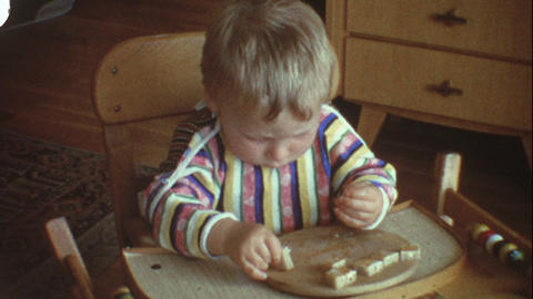 Baby eating bread 3 Live Action