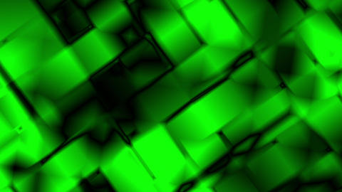 Green Abstract Glowing Squares Motion Background Loop Animation