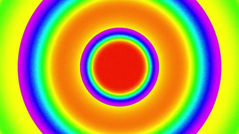 Psychedelic Color Circles Burst VJ Background 1 Animation