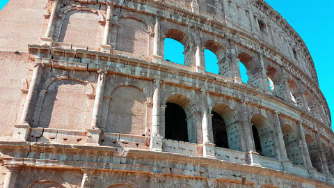 Panning Time-Lapse of the Colosseum Closeup 画像