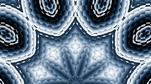 Hexagonal Black White Gray Kaleidoscope Motion Background Loop 3 Animación