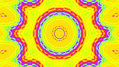Fast Psychedelic Color Cycle Hexagonal Pattern Colorful Kaleidoscope 2 Animación