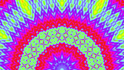 Fast Psychedelic Color Cycle Hexagonal Pattern Colorful Kaleidoscope 4 Animación