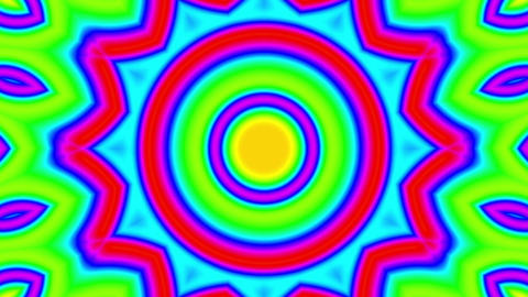 Fast Psychedelic Color Cycle Colorful Kaleidoscope 1 Animation