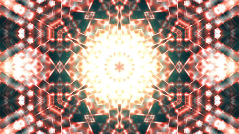 Hypnotic Orange Complex Intricate Kaleidoscope 1 Animación
