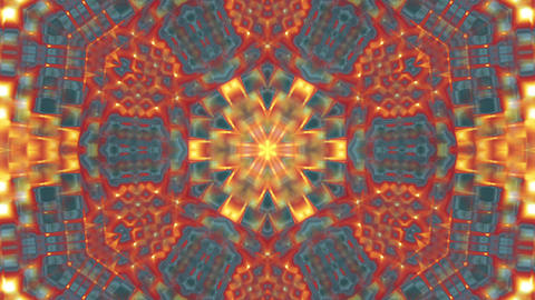 Hypnotic Orange Complex Intricate Kaleidoscope 2 Animación