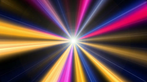 Colorful Light Rays Animation