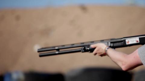 shotgun Stock Video Footage