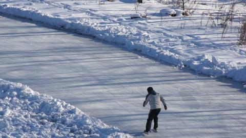 Ice Skating Rink 03 scene Stock Video Footage