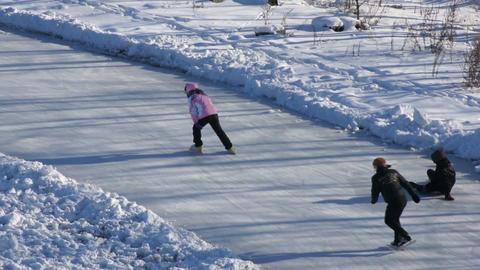 Ice Skating Rink 03 scene Footage