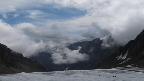 Mountain and clouds Footage