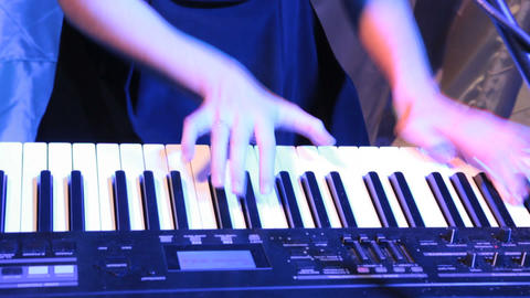 hands music Stock Video Footage