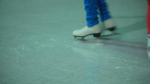 ice scating Stock Video Footage