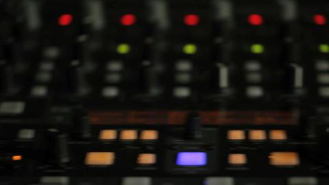 Moving pan of DJ decks Stock Video Footage