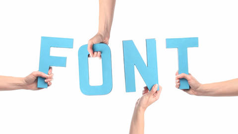 Font Stock Video Footage