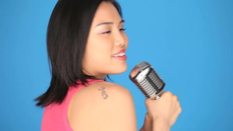 Singing woman Stock Video Footage