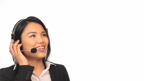 Call Center Agent Stock Video Footage