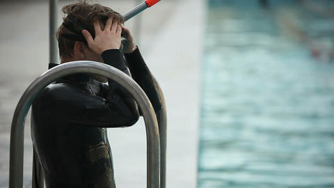 diving training 05 Stock Video Footage