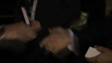 hands welcome Stock Video Footage