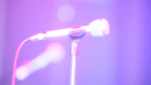 microphone blur Stock Video Footage