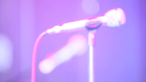 microphone blur Footage