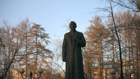 Felix Dzerzhinsky Statue Stock Video Footage