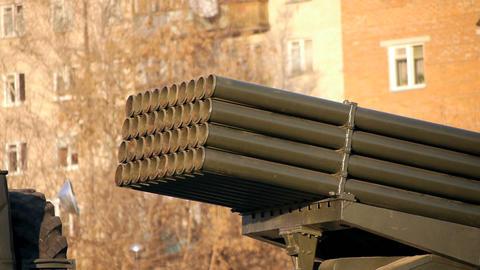 Grad Rocket System Stock Video Footage